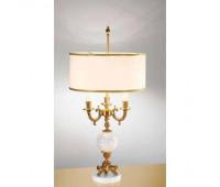 Настольная лампа  Arizzi 856/3/L  Состаренное французское золото, белый (пр-во Италия)