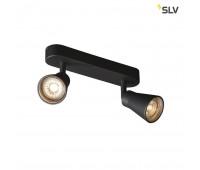 AVO DOUBLE CW светильник накладной для 2-х ламп GU10 по 50Вт макс., черный SLV 1000889  (пр-во Германия)
