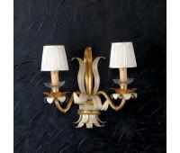 Бра   Epoca Lampadari 1434/A2P TC 3021/F.12 shade dec. 735  Античная золотая фольга, светлый (пр-во Италия)