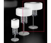 Лампа настольная IDL 9045/3LG Frosted white blown glass  Хром (пр-во Италия)