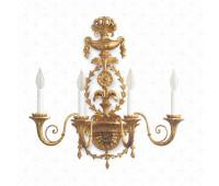 Бра  Roberto Giovannini 1169 A039 2nd half XVIII C. Robert Adam English  Версальское золото (пр-во Италия)