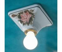 Накладной светильник Ferroluce C135 PL  Белый с рисунком (пр-во Италия)