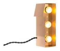 Декоративная буква с подсветкой  Seletti Caractere 01402_I  Золотистый (пр-во Италия)