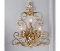 Бра   Epoca Lampadari 1379/A3 dec. 518  Серебристо-золотая фольга, светлый, янтарный (пр-во Италия)