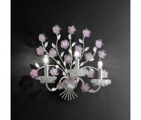 Бра Ventisette  Renzo Del Ventisette A 14519/3 DEC. 0148  Белый, розовый (пр-во Италия)