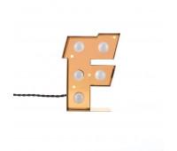 Декоративная буква с подсветкой  Seletti Caractere 01402_F  Золотистый (пр-во Италия)