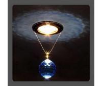Точечный светильник Kantarel CD 001.3.4 med sapph  Золотой (пр-во Россия)