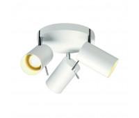 ASTO TUBE 3 ROUND светильник накладной для 3-х ламп GU10 по 75Вт макс., белый SLV 147414  (пр-во Германия)
