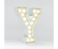 Декоративная буква с подсветкой   Seletti Vegaz 01408_Y  Белый (пр-во Италия)