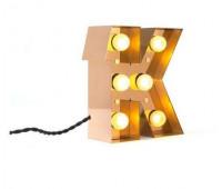 Декоративная буква с подсветкой  Seletti Caractere 01402_K  Золотистый (пр-во Италия)