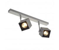 ALTRA DICE 2 светильник накладной для 2х ламп GU10 по 50Вт макс., серебристый/ черный SLV 151174  (пр-во Германия)