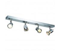 ASTO 4 светильник накладной для 4-х ламп GU10/PAR20/ES111 по 75Вт макс., матированный алюминий SLV 147444  (пр-во Германия)