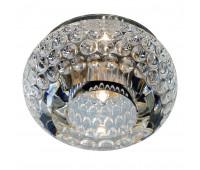 CRYSTAL 8 светильник встраиваемый для лампы QT9 G4 20Вт макс., стекло прозрачное кристаллическое SLV 114931  (пр-во Германия)