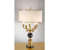 Настольная лампа  Arizzi 857/5/L  Состаренное французское золото, черный (пр-во Италия)