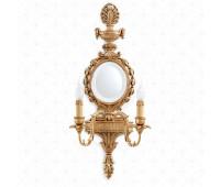 Бра  Roberto Giovannini 393 G035 End XVIII C. Louis XVI French  Состаренное золото (пр-во Италия)