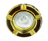 Встраиваемый светильник Feron 098T art.17642  Черный, золото (пр-во Китай)